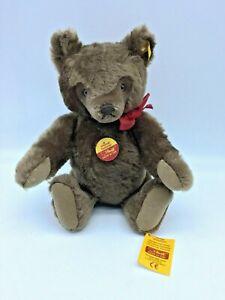 "Original Steiff 12"" Teddy Bear Brown All Tags"