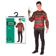 Halloween Mens One Size Shirt Only Serial Killer Freddie Fancy Dress Party