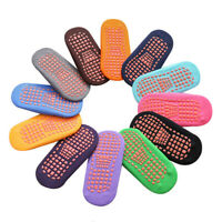 10 Pairs Pure Cotton Anti-slip Non Skid Baby Toddlers Grips Floor Walking Socks