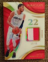 2017/18 Immaculate Otto Porter Acetate Game Used Patch 10/22 WASHINGTON Wizards