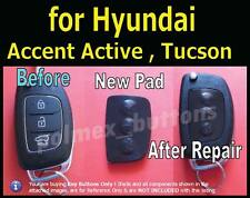 fits Hyundai remote key Accent Active Tucson i20,30,35 - 3 Button key Pad (1set)