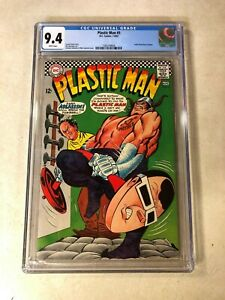 PLASTIC MAN #5 CGC 9.4 NM INFANTINO 1967 ASSASSIN DUMBELL COVER white pages