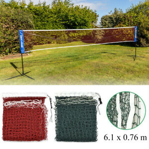 Portable 6.1x0.76m Badminton Volleyball Tennis Standard Net Training Beach Sport