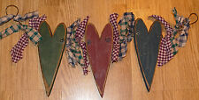 Super Cute Primitive Distressed Triple Wood Heart Wall Hanging! Hand Crafted!