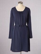 NEW $148 BODEN WOOL BLEND KNIT MUTED NAVY GATHERED TUNIC DRESS WH488 SIZE US 8L