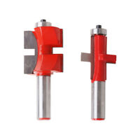 "1/2"" Shank Tongue & Groove Router Bit Milling Cutter For Woodworking Tool Red"