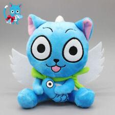 "Cute Blue Happy Cat Anime Fairy Tail Soft Plush Doll Toy 6.3"" Teddy Gift"