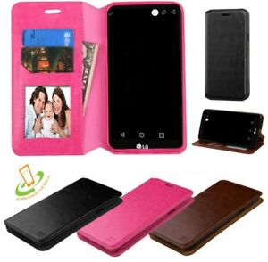 For LG K30 X410 Leather Flip Wallet Case Cover Stand Credit Card Holder Pouch