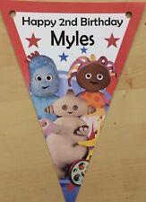 Personalised In The Night Garden bunting / party decoration / birthday