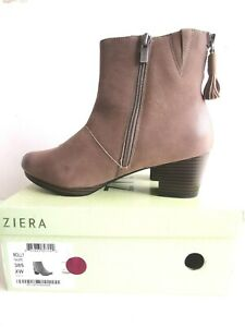 Ziera Molly Taupe Boots  - Size XW 38.5 / 385  - Brand New