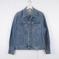 Vintage GUESS Classic Blue Trucker Denim Jacket Size Mens Large /R57017