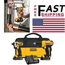 DEWALT Cordless Drill/Driver and Impact Combo Kit 20V MAX Lithiumion 2 Tool