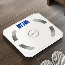 Digitale Körperwaage Personenwage Fitnesswaage Gewicht Waage BMI Analyse 180kg