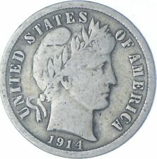 Better 1914-S - US Barber Liberty Silver Dime Coin Collection Lot Set Break *485