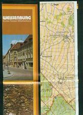 Reiseprospekt Weissenburg Mittelfranken Fotos Informationen Wanderkarte 1970er