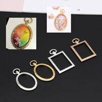 5Pcs Open Bezel Charm Blank Frame Hollow Pendants  for UV Resin Crafts Jewelry