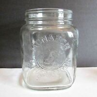 Monarch Finer Foods VTG 1 Gallon Coffee Hoosier Glass Jar Canister 6x6x8 FREE SH