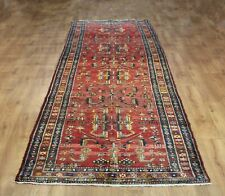 OLD WOOL HAND MADE  ORIENTAL FLORAL RUNNER AREA RUG CARPET  414 X 110 cm