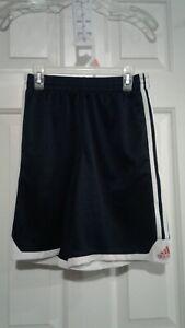 Adidas Classic Dark Blue White Stripe Basketball Girl's Athletic Shorts Med