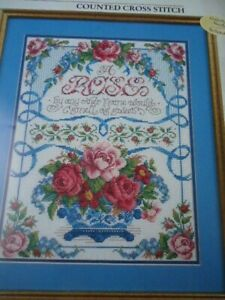 "Bucilla ""A Rose By Any Other Name"" Counted Cross Stitch Pattern/Chart # 1725"
