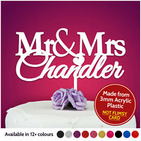 Bride Groom Mr Mrs Personalised Wedding Cake Topper Table Decoration Keepsake