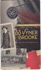 2017 20¢ 75th Anniversary Of The Sinking Of The SS Vyner Brooke Card/Coin