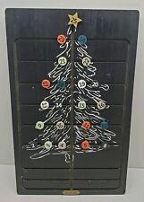 Hearth and Hand Magnolia Christmas Tree Advent Calendar Black Wood Wall hanging
