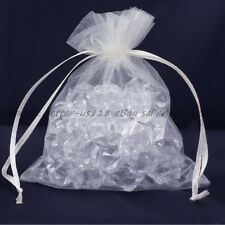 100 Pieces Premium ORGANZA Wedding Favour GIFT BAGS Jewellery Pouches 16 Colours