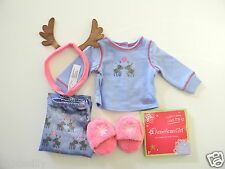 American Girl REINDEER DOLL PAJAMAS New Christmas Retired Grace MYAG JLY NIB
