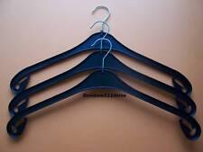 50 Kleiderbügel NA 47 in Kunststoff schwarz, nagelneu