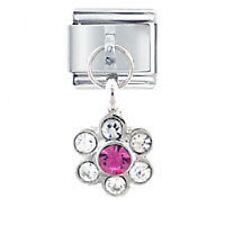 GEM DAISY Dangle - Daisy Charms by JSC Fits Classic Size Italian Charm Bracelet