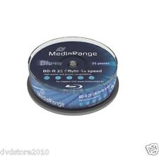 50 MEDIARANGE Bluray blu ray vergini BD-R  25GB 1-4X FULL cake 25 mr503
