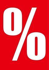 """10 Plakate """"Prozentzeichen"""" DIN A4 für SALE und Reduziert Räumungsverkauf Aktion"""