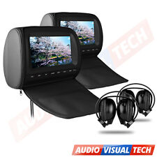 "2X9"" In Car HD Digital Headrest DVD Player Monitor, Twin Screens Dual Headrests"