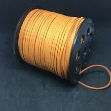 2.5 Meters 3mm Suede Faux Leather Cord Lace String For Jewellery Making Orange