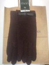 Ralph Lauren Wool Blend Burgundy Tech Touch Screen Gloves M New