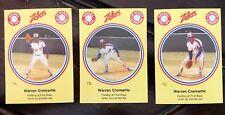 1982 Zellers Baseball - #7ABC Warren Cromartie - 3 Card Set - Montreal Expos
