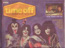 Time Off Brisbane free music paper from 2001 with Kiss cover