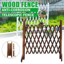 Wooden Fence Screen Expanding Portable Gate Safety Pet Patio Garden Barrier UK