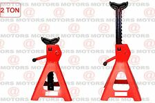 Set Of 2 Color Red Heavy Duty Steel Adjust From 275mm - 415mm 2 Ton Jack Stands
