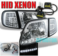 97-03 FORD F-150 EXPEDITION LED CRYSTAL HEAD LIGHTS+CORNER+HID 6K SIGNAL LAMP