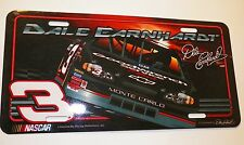 Dale Earnhardt #3 Collectible NCASCAR Autographed Licence Plate Tag