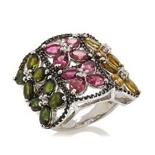 """COLLEEN LOPEZ """"ENCHANTED GARDEN"""" 8.5CT COLORS OF TOURMALINE, TOPAZ & SPINEL RING"""