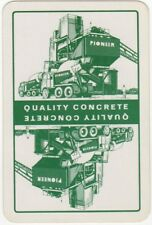 Playing Cards 1 Single Card Old Vintage PIONEER CEMENT MIXER Truck Advertising 1