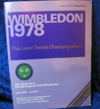 Original Tennis Memorabilia Programmes