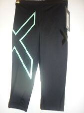 Black aqua cropped compression tights by 2XU size XS BNWT