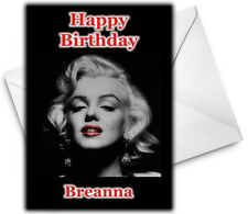 MARILYN MONROE Personalised Birthday / Christmas / Card - Large A5