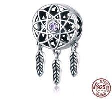 Dream Catcher Charm For Charm Bracelet Pendant Charms Necklace Silver 925