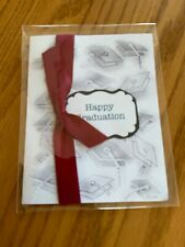 Graduation Card Grad Caps Ribbon Is Maroon Other Colors Available Handmade