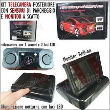 VIDEOCAMERA ASSISTENTE 2 SENSORI PARCHEGGIO + MONITOR LCD PER HYUNDAI i10 i20